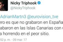 Nicky Triphook, de Objetivo Eurovisión: В«El vídeo no lo grabaron en España, fue en CanariasВ»