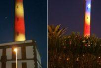 Los canarios se lían con las banderas catalanas en su apoyo a las víctimas de Barcelona