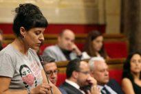 Anna Gabriel, la cara de la CUP en las marchas independentistas en Valencia