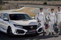 Marc Márquez, Dani Pedrosa y Toni Bou prueban el nuevo Honda Civic Type R