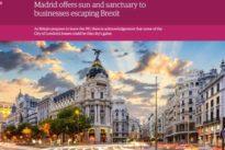 «The Guardian» destaca la oportunidad de oro que supone el Brexit para Madrid