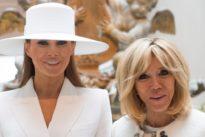 Brigitte Macron se apiada de Melania Trump: «Vive recluida sin poder hacer nada»