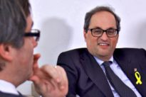 Puigdemont rompe su silencio para avalar la estrategia de Quim Torra