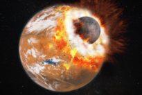 El mismo impacto que formó la Luna hizo también posible la vida en la Tierra