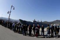 El buque Juan Carlos I parte de Guecho con récord de visitantes