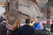 Derrumbe de un muro en Canarias, metáfora de la gestión del PSOE en Las Palmas