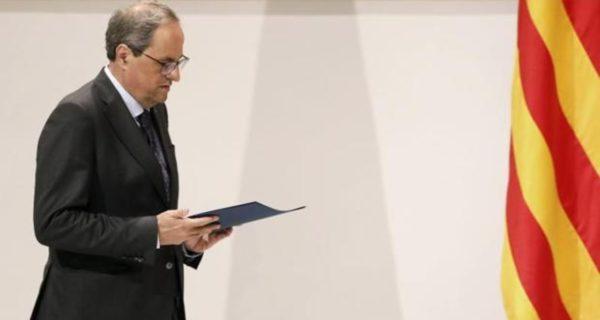 Torra exige por carta a Sánchez la libertad de los presos tras el «dictamen» de un comité de la ONU
