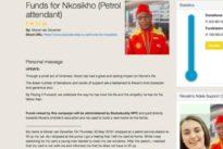 Un empleado de una gasolinera paga el combustible a una joven y recibe una donación de 20.000 euros