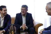 Lambán, proclamado candidato para la investidura en Aragón sin haber logrado aún el apoyo de Podemos