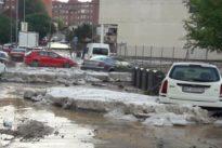 Una tormenta de granizo lleva el caos a los municipios del este y sur de Madrid