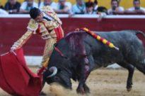 Soberbia torería de Emilio de Justo con dos adolfos de enfermería en Huesca